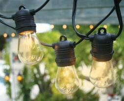 Commercial Outdoor Weatherproof Patio String Lights with S14