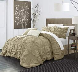 Chic Home Halpert 6 Piece Comforter Set Floral Pinch Pleated