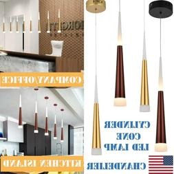 Cylinder Cone LED Pendant Ceiling Lamp Lighting Fixture Chan
