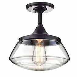 CLAXY Ecopower Vintage Metal & Glass Ceiling Light 1-lights