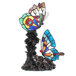 "EDITH 2 -style 2 Light Butterfly Table Lamp 10"" Wide"