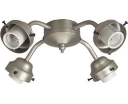 Craftmade F400L-BN, 4-Light Fitter, Brushed Nickel