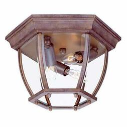 flushmount collection ceiling mount 3 light brown