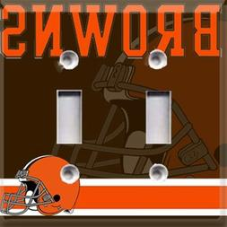 Football Cleveland Browns Themed  Light Switch Cover Choose