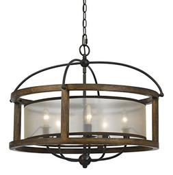 Cal Lighting FX-3536/5 Mission 5 Light Pendant with Organza