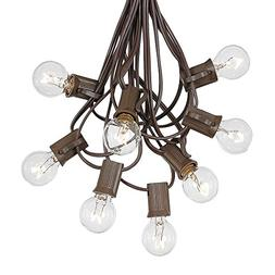 G30 Globe Outdoor String Lights With 25 Clear Globe Bulbs By