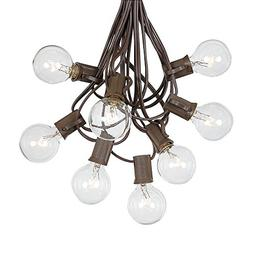 G40 Globe String Lights With 25 Clear Globe Bulbs - Indoor/O