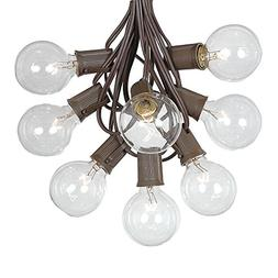 G50 Globe Outdoor String Lights With 125 Clear Globe Bulbs B