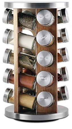 Orii GSR3519-L Spice Rotating Rack, Light natural wood
