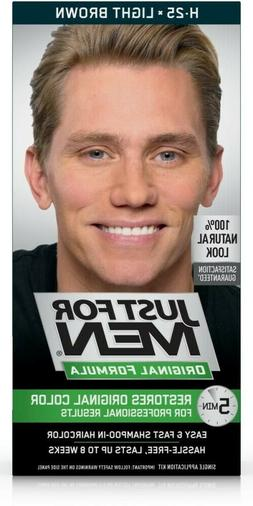 Just For Men Haircolor, Shampoo-In, Light Brown H-25, 1 appl