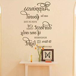 BATTOO Happiness can be found Wall Decal Quote Wall Decor -