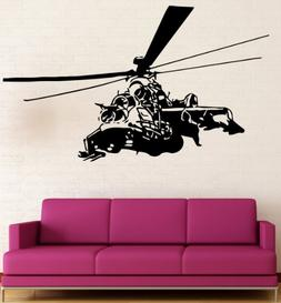Helicopter Chopper Kids Room Military Decor Wall Mural Vinyl