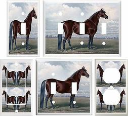 HORSE BROWN STALLION LIGHT SWITCH COVER PLATE OR OUTLET V837