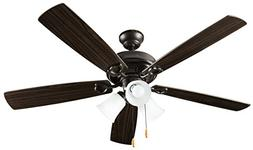 Hyperikon Indoor Ceiling Fan with Lights, 52-Inch Brown Ceil
