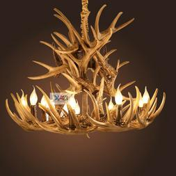 Industrial Century Antler Chandeliers Lighting Brown/White P