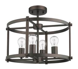 "CHLOE Lighting ""IRONCLAD"" Farmhouse Rubbed Bronze Convertibl"