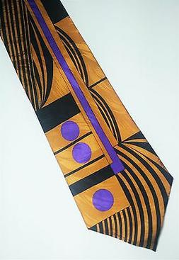 """Jay Dub"" Bob Beamon Designed Tie - Black, Light Brown, and"