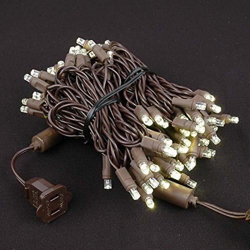 Novelty LED Christmas Set, Outdoor Lighting Party Patio String White, Brown Feet