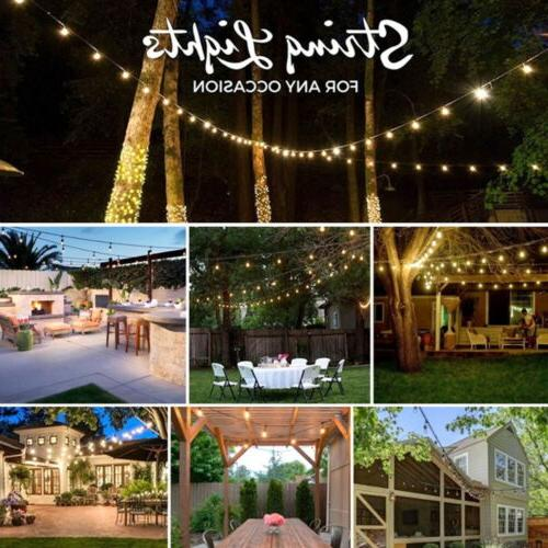100ft G30 Bulb Outdoor Yard String Lights with Wire
