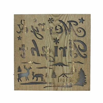 12 lighted wooden merry bright christmas wall