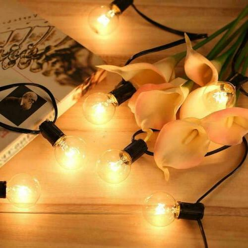 125PCS Bulb Yard With Brown Lamp Wire Light