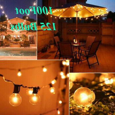 125PCS Light Bulb Outdoor Yard With Lamp Wire Light