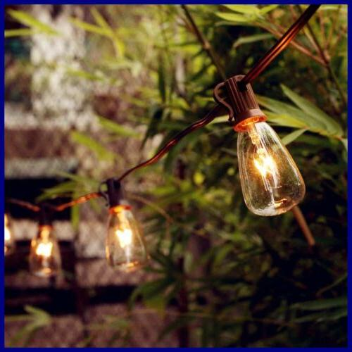 25Ft String Lights Bulbs Listed Brown Wire
