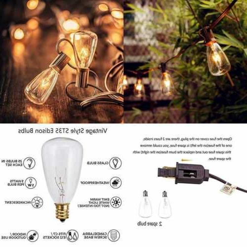 25ft outdoor edison string lights w 25