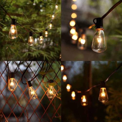 Goothy 25ft Lights with Edison 2 Extra Bulbs,Brown