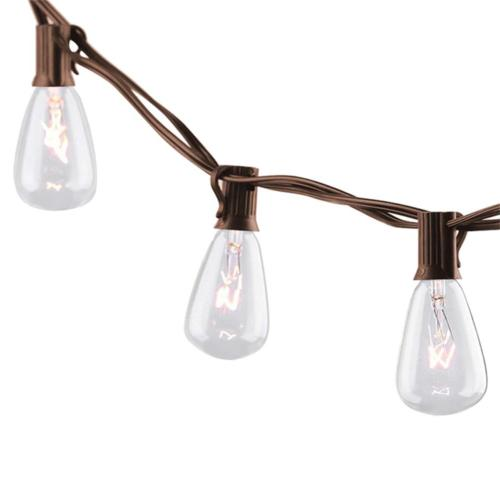 25ft outdoor string lights with edison bulbs
