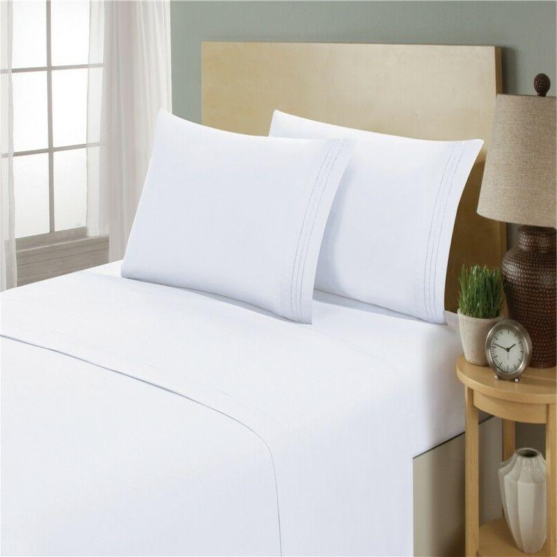 Egyptian Size Piece Deep Bed Sheet lux