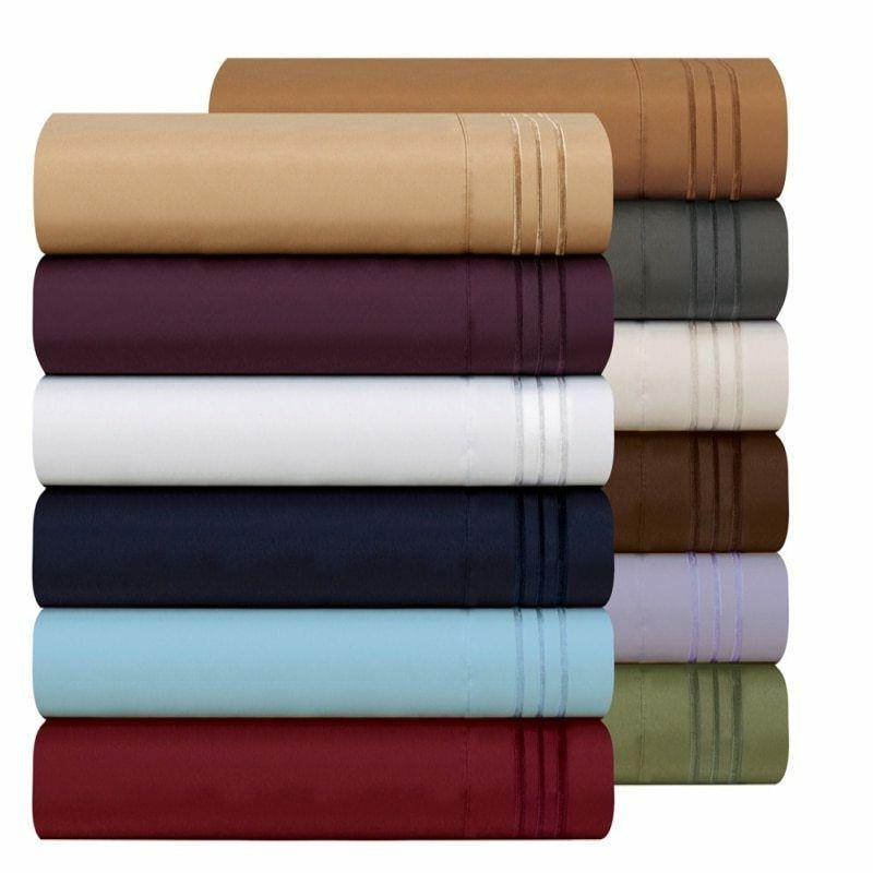 Egyptian 3/4pcs US Size Count Piece Pocket Bed Sheet