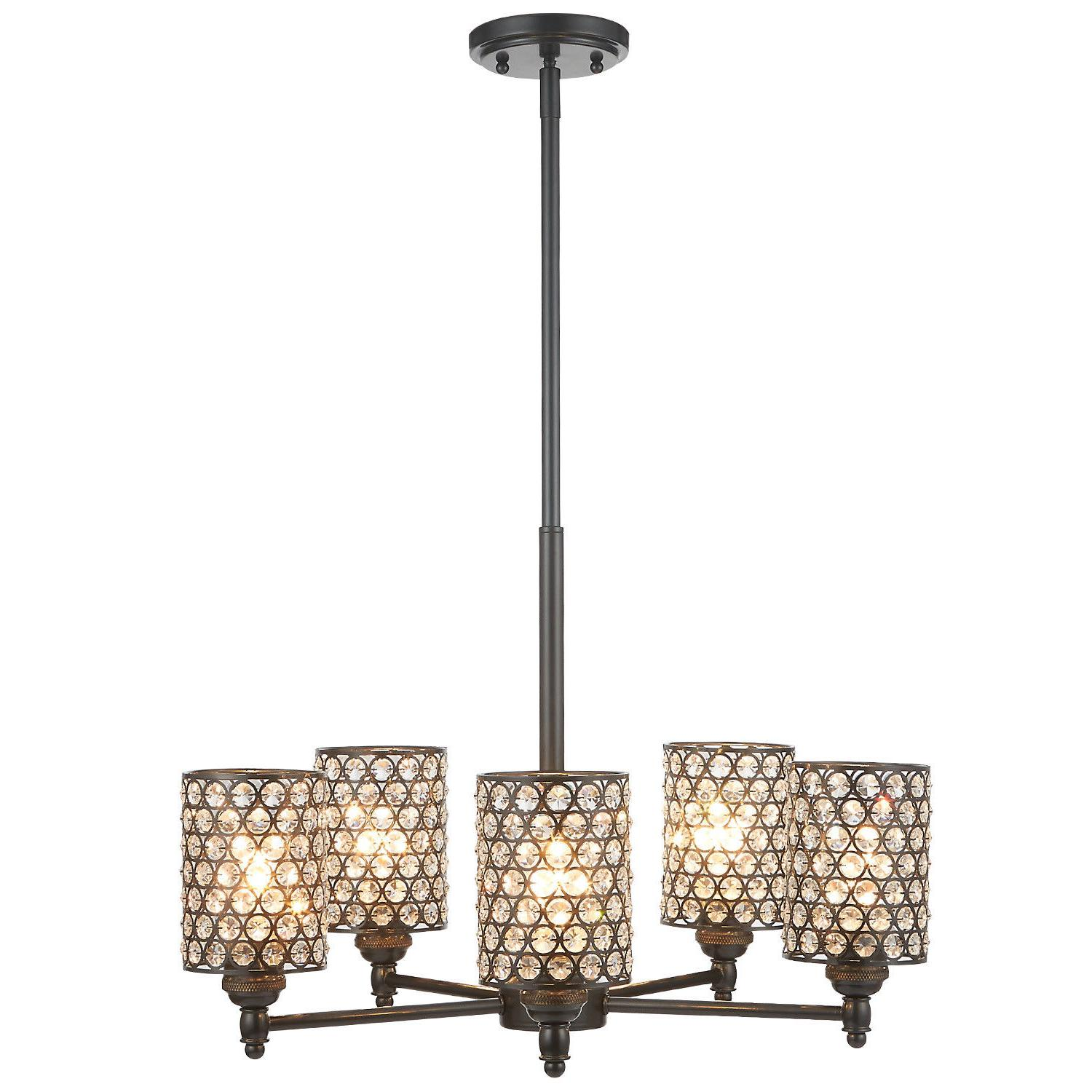 3 5 light chandelier lighting with crystal