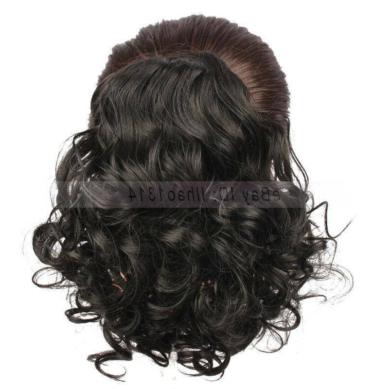2-6 Days Delivery Hair Buns Medium Long Curly Hair Drawstrin