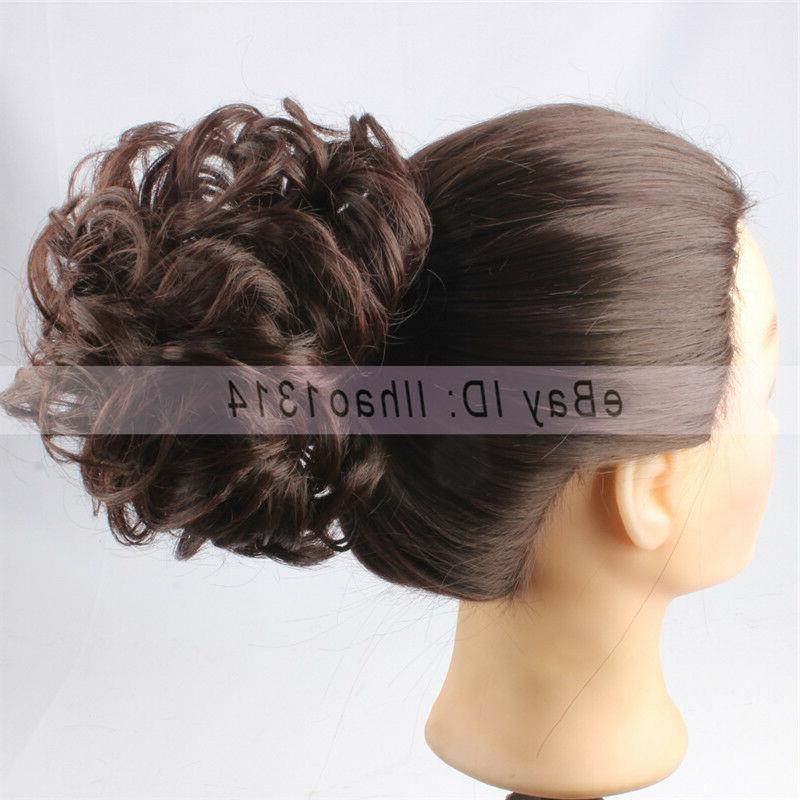 3-7 Days Delivery Short Scrunchies Messy Curly Updos Hair Bu