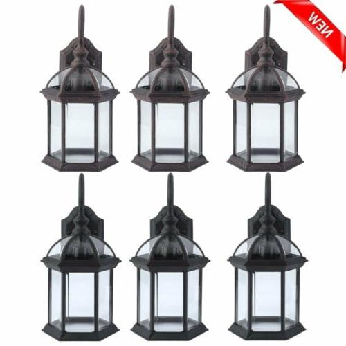 3x retro exterior outdoor wall lamp sconce