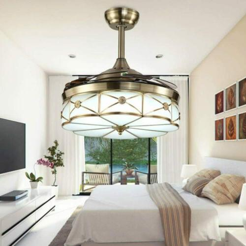 42 ceiling fan led invisable lamp bronze