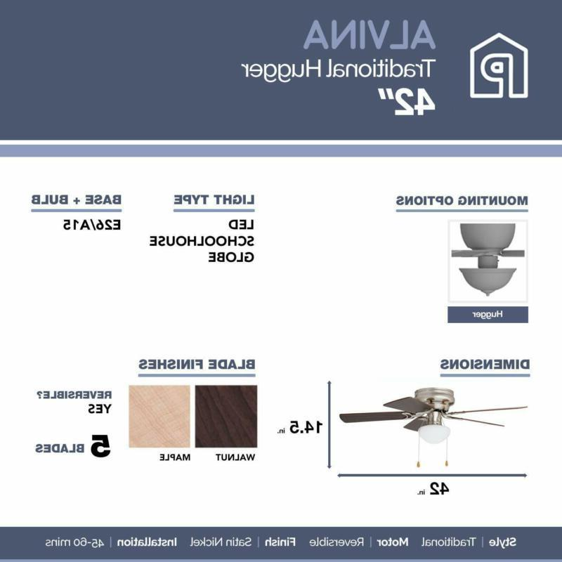 42 inches Ceiling Alvina Hugger/Low