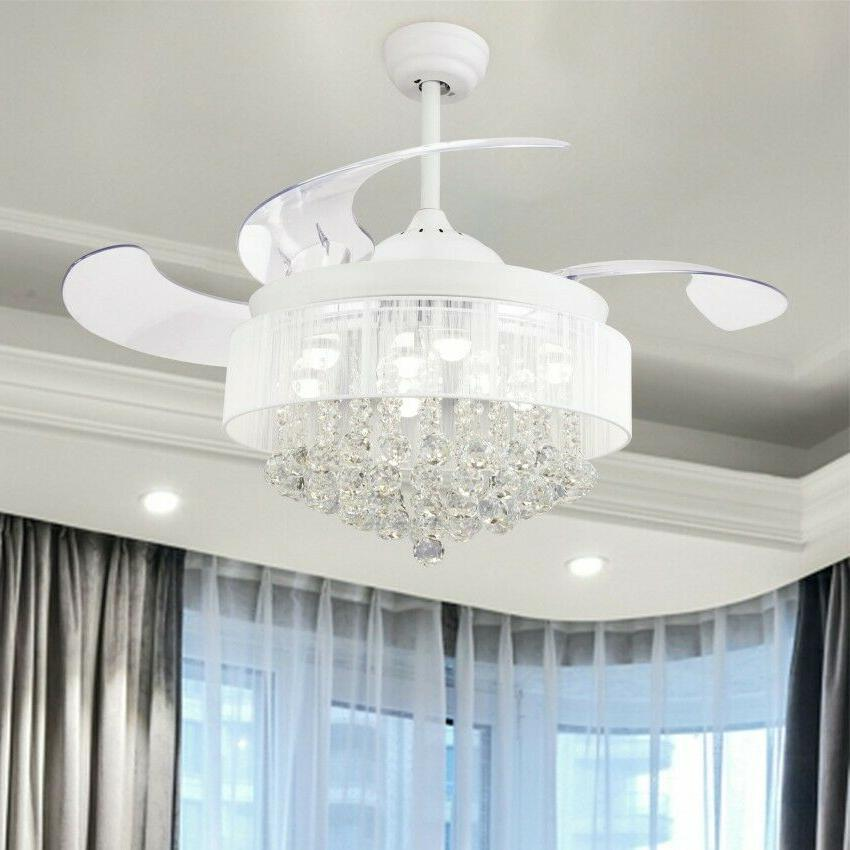 "46"" Ceiling Lights Retractable 4-Blade"