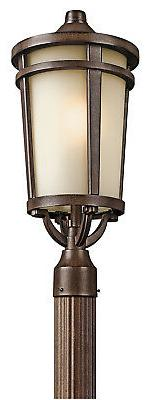 Kichler 49074BST Atwood Outdoor Post Mount 1-Light, Brown St