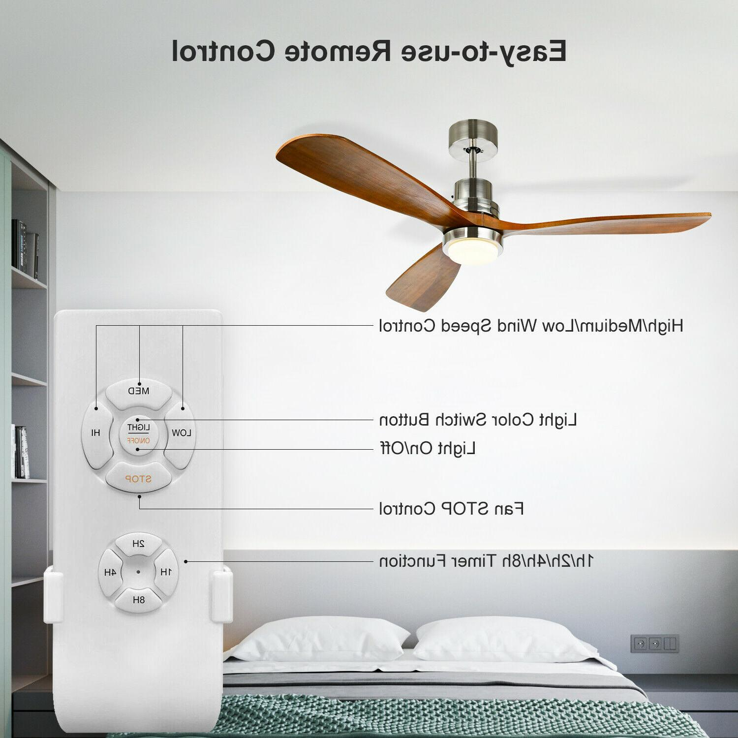 "52"" Ceiling Fan with & 3 Wood"