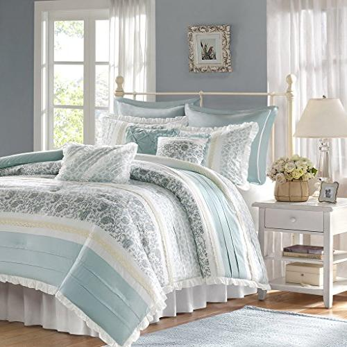 Madison Dawn Queen Size Set Bed In Shabby Pieces Bedding 100% Cotton Bedroom Comforters