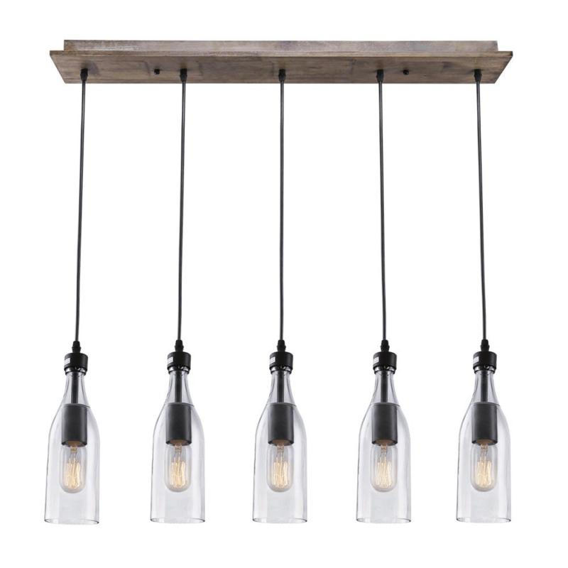 a02982 wood pendant 5 ceiling linear chandelier