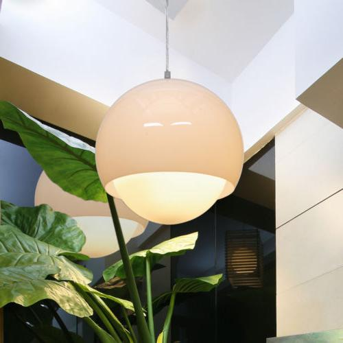 acrylic glass ball pendant lamp led chandelier