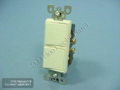 Leviton Almond COMMERCIAL Decora Double Rocker Light Switch