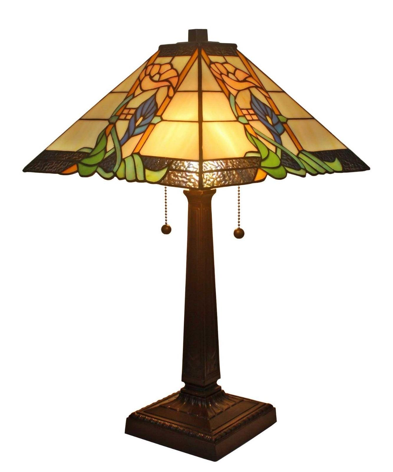 Amora Lighting AM058TL14 Tiffany Style Mission Table Lamp 23