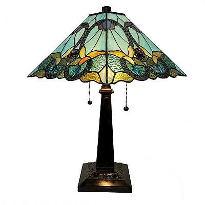 am254tl14b tiffany style floral mission table lamp