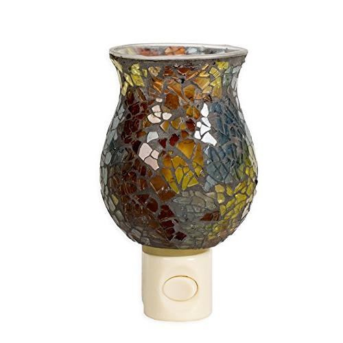 Gift Connection Amber Crackle x Glass Electric Mosaic Light