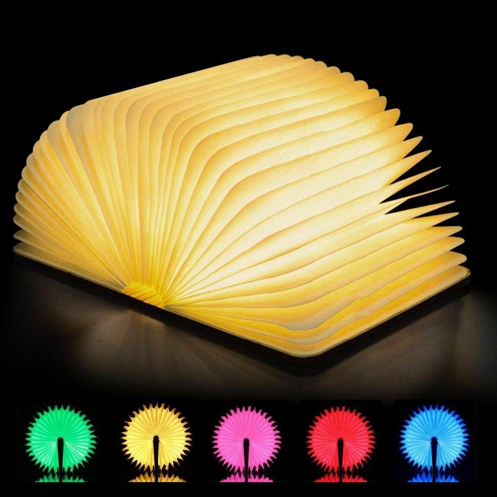 book lamp led lights night light usb
