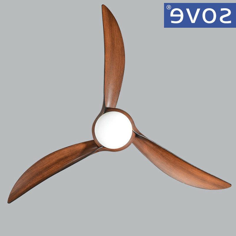 SOVE Brown fans with light living room with remote